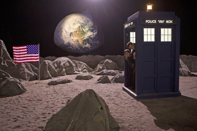 TARDIS On Fake Moon